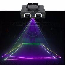 AUCD 2 Lens Red Green Blue RGB Beam Laser Light DMX 512 Professional DJ Party Show Club Holiday Home Bar Stage Lighting 506RGB(China)
