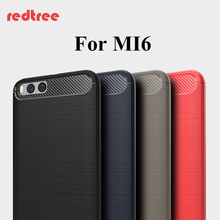 Xiaomi mi6 case original 5.15 inch Carbon Fibre soft TPU Xiaomi mi 6 Shell for xiomi mi6 Mobile Phone Back Cover cases