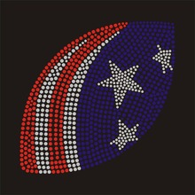 American Football rhinestone transfer for T shirt wholesale price(China)