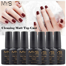 MYS 10ml Matt Matte Top Coat Nail Gel Polish Nail Art Tips Dull Finish Top Coat Gel Long Lasting Gel Lacquer Matt Top Gel