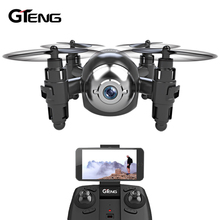 Gteng mini fpv drone with camera hd remote control toys quadrocopter rc helicopter dron flying quadcopter multicopter copter(China)