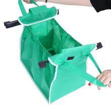 Women's Portable Green Shopping Bag
