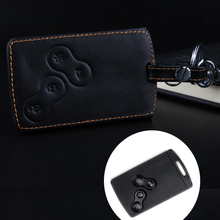 Leather car keychain car key cover case holder for Renault Clio Scenic Megane Duster Sandero Captur Twingo koleos Car-styling
