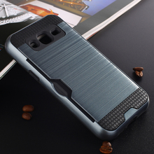 For Samsung Galaxy J3 Case J300 J310 Brushed Armor Rugged Silicone Rubber Hard Phone Cover for Samsung J3 2016 with Card Slot (<