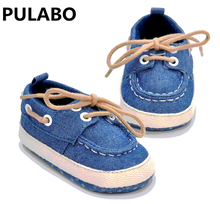 New Leisure Anti-slip Cowboy Soft-soled Toddler Shoes Baby Sneakers Newest Original Brand Baby First Walkers Drop Shipping(China)