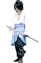 Naruto Sasuke Uchiha Cosplay Costume Anysize halloween accessories halloween clothes costume kit Free Shipping Brand New F-0567