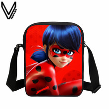 VEEVANV 2017 Cute Ladybug School Bags Anime Miraculous Ladybug Women Handbag Teenager Messenger Bags Mini Shoulder Bag Kids Gift