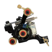 Durable Tattoo Machine 10 Wrap Coils Gun Spring Liner Secant Custom Cast Iron Cores