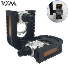 VXM Bicycle Folding Pedal A pair Steel/Aluminum Plastic Cycling Folding Pedals MTB Bike Ball Bearing Footboard Bicycle Parts