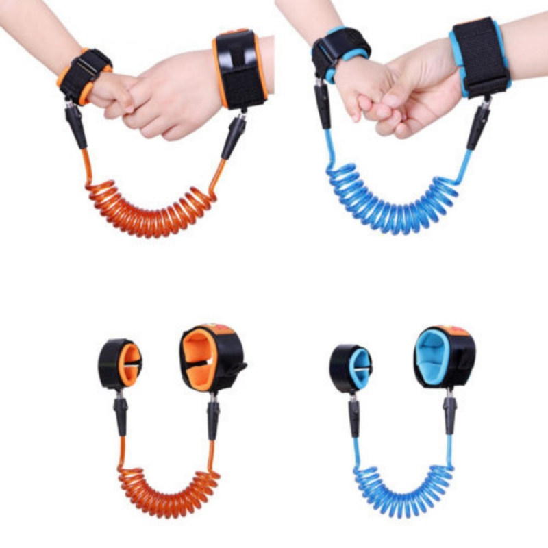 Elastic  Anti-Lost Spring Wristband safety Harness Rope Belt Wire For Kids Baby