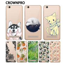 CROWNPRO Soft TPU Silicone Xiaomi Redmi 4A Case Cover Phone Gel Colored Painted Back Protective Case FOR Xiaomi Redmi 4A Funda