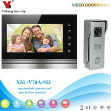 "YobangSecurity Wired 7""inch LCD Color Hands Free LCD Colour Video Door Phone Doorbell Door Entry Intercom System(China)"