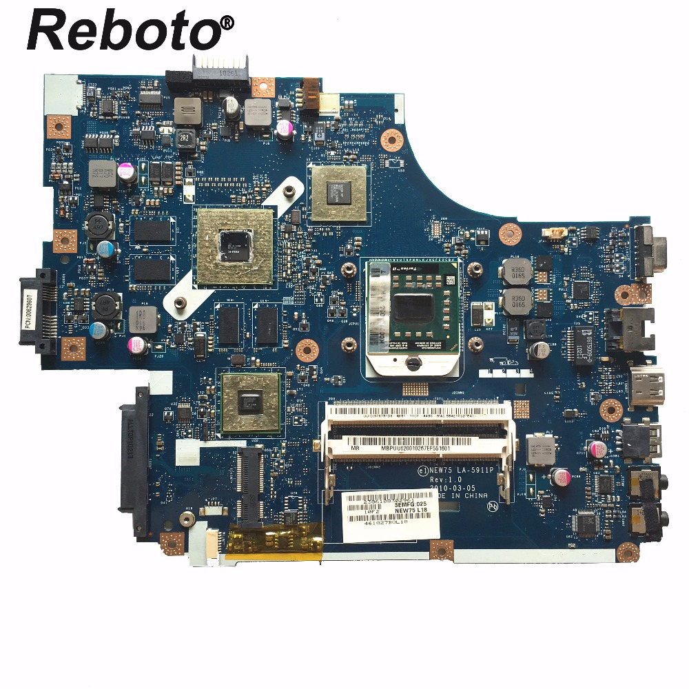 Reboto FOR ACER 5551 5552 Laptop Motherboard Mainboard NEW75 LA-5911P MBPUU02001 HD 5650M/1GB DDR3 100% Tested Fast Ship
