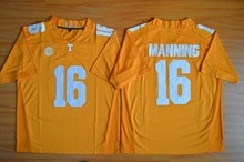 Nike 2015 Tennessee Volunteers Peyton Manning 16 College Ice Hockey Jerseys - Grey Size M,L,XL,2XL,3XL(China)