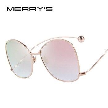 Mulheres de personalidade exagerada merry's óculos limpar lens mulheres óculos de proteção uv400 s'8066