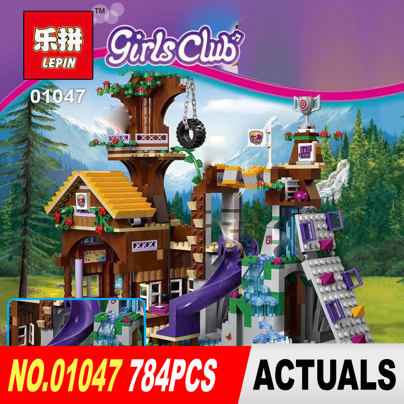 Lepin 01047 784Pcs Super classic adventure camp tree house Model Building Blocks Compatible for Gifts toys 41122<br>