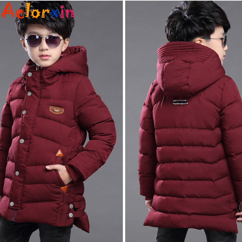 Children Winter Jacekts for Boys Clothing Cotton Thicken Warm Parkas Boys Hooded Coats Brand 2016 Boys Outerwear 5 7 9 11 Years<br>