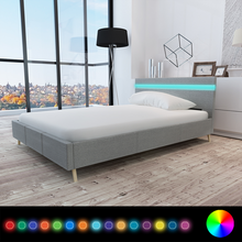 iKayaa modern design Bed artificial leather wood bed bedroom furniture home furniture White ES Stock 200 x 140 cm