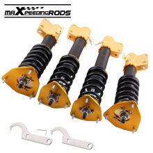 For Subaru Impreza 02-07 WRX GDB 04 STI Adjustable Coilover Shock Absorber Strut Suspension Struts Shocks Spring Damper Force