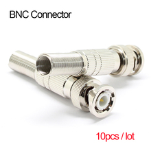 10pcs BNC Connector Male Compression Coax CCTV Cable Connectors BNC Insulation Connector for CCTV Camera Surveillance System Kit(China)