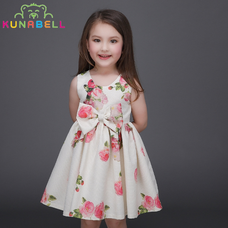 Kids Dresses For Girls Cotton Children Clothing Floral Print Girls Dresses Clothes Summer Princess christmas Dress Girls L-110<br><br>Aliexpress