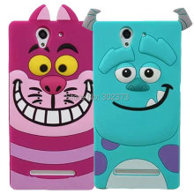 For Sony Xperia C3 Case HOT Tiger Monsters Inc. Sulley Cat Rubber Phone Case Cover For Sony Xperia C3 Soft Covers Monsters Cases(China)