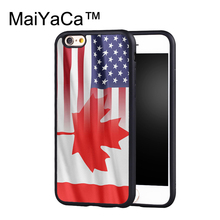 MaiYaCa Canada American Soft TPU Case For iPhone 6s Plus Rubber Back Cover For iPhone 6 Plus Capa Coque(China)