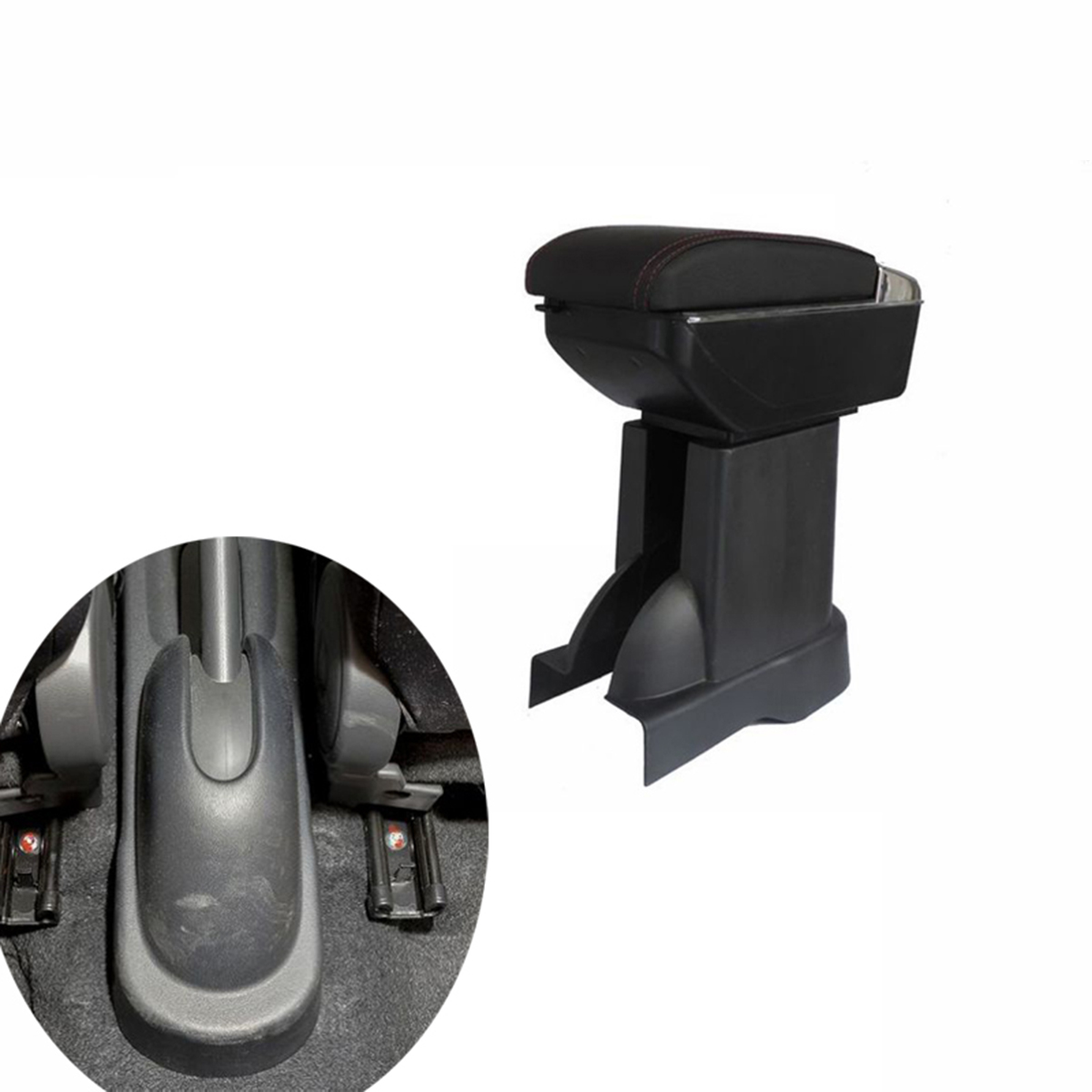 SZSS-CAR Leather Car Center Console Armrest Box for SUZUKI SX4 2008 2009 2010 2011 2012 2013 2014 2015 2016 2017 Armrests Storage Box Grey Color