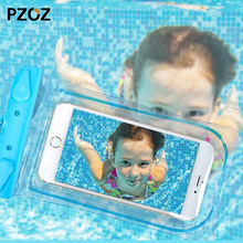 pzoz waterproof pouch Swim Underwater phone Bag dry Case Cover for iphone 5 5S 6 6S 7 Plus Samsung xiaomi huawei for swimming(China)