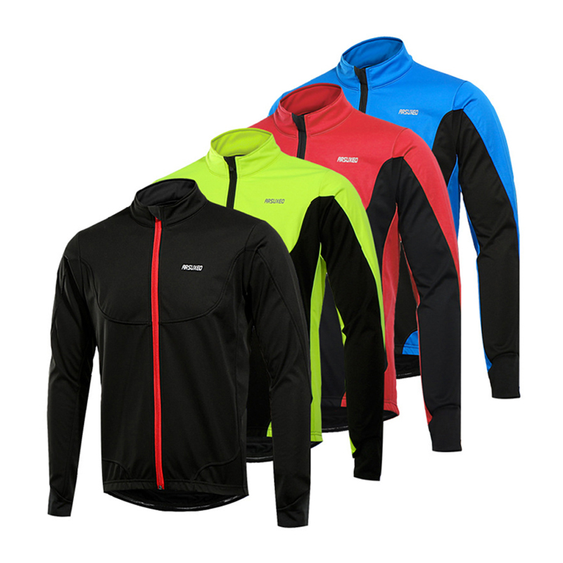 Men Thermal Cycling Jacket Winter Warm Bicycle MTB Clothes Windproof Waterproof Soft Shell Coat Bike Cycling Jacket Clothing<br>