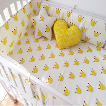 Buy Baby Bumpers Crib Newborn Cotton Linen Cot Bumper Baby Bed Protector (1pcs bumper only) 120cm Length for $14.07 in AliExpress store
