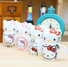 Novelty Hello Kitty Cartoon Ceramic Mugs Water Container Cups Mugs Porcelain Tea Cup Coffee Mug
