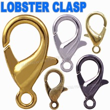 Mix Colors Sizes Lobster Clasp Hooks Gold Silver Rhodium Bronze for necklace bracelet chain DIY,Jewelry Accessory Findings Parts(China)