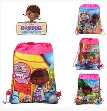 (12 Pcs/Lot) Doc Mcstuffins Check Up Time Cartoon Theme Travel Home Clothing Organizer Children Gift Toy Storage Bag