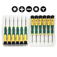 12 In 1 Torx T2,T3,T4,T5,T6,T8,Phillips PH00,PH000,Pentalobe 5-Point 0.8,1.2,Slotted 2.0,Y2.5 Precision Screwdrivers Set(China)