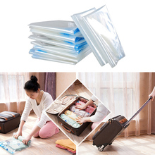 6pcs Vacuum Storage Bags For Clothing + Vacuum Suction Air Pump for Storage Vacuum Compressed Bag Save Space 2017