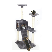 Domestic Delivery Cat Furniture Wood Product Scratching Post Stairs Cat Playing Funny Climbing Frame Kitten House Jumping Toy(China)