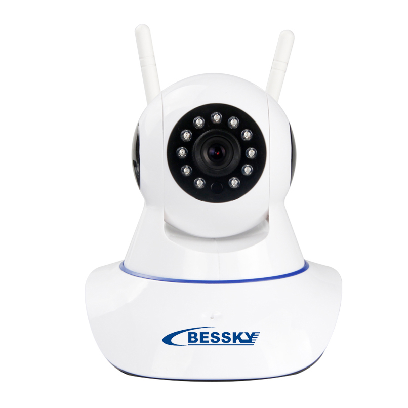 Wireless HD Alarm IP Security Camera WiFi Two Way Audio Recording Infrared Add Door/PIR Sensor CCTV Alarm System<br>