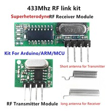 433 Mhz Superheterodyne RF Receiver and Transmitter Module For Arduino uno Wireless module Diy Kits 433Mhz Remote controls(China)