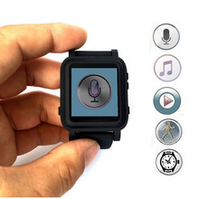 Multi-function 8GB digital voice recorder Watch with FM digital music player Movement step(China)