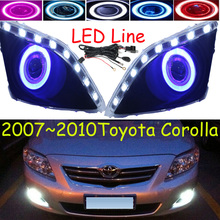 Corolla fog light,LED,2007~2010;Free ship!Corolla daytime light,2ps/set+wire ON/OFF;optional:Halogen/HID XENON+Ballast,Corolla