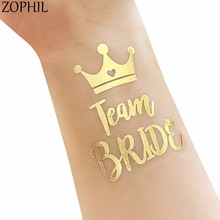 ZOPHIL Wedding Decoration Team Bride Tribe Tattoos Sticker Event Party DIY Accessories Bride to be Supplies Mr Mrs Bridal Shower(China)