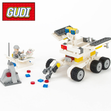 GUDI 8811 Space Aviation Moon Rover Galaxy Shuttle Spaceship 238pcs Building Blocks Kids DIY Educaitonal Bricks Toy for Children(China)