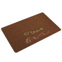 Best Floor Mat Kitchen Carpet Toilet Water Absorption Non-slip, Small hippo Pattern, 40cmx60cm Brown(China)