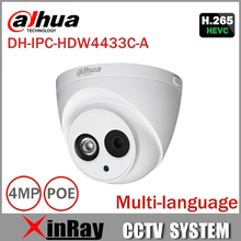DaHua IPC-HDW4433C-A Upgrade from IPC-HDW4431C-A POE Network IR Mini Dome IP Camera With Built-in Micro 4MP CCTV Camera(China)