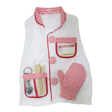 MAKE Hot Role Play Costume Children Kids Chef Role Play Costume Set Chef's Outfit White+Red