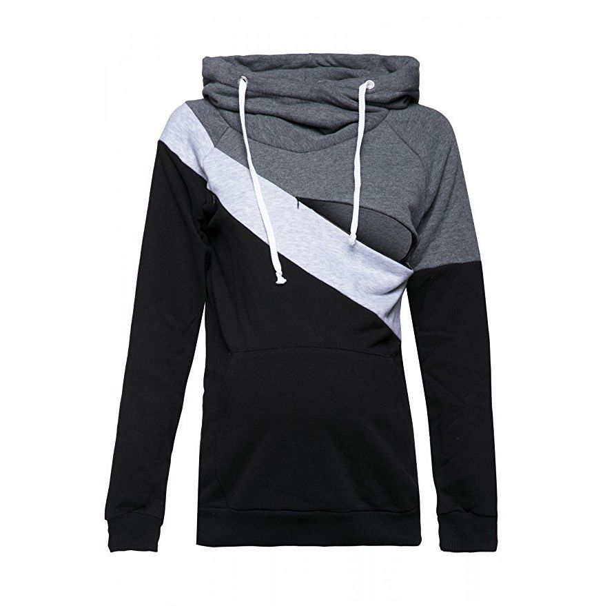 Plus-Size-Pregnancy-Nursing-Long-Sleeves-Maternity-Clothes-Hooded-Breastfeeding-Tops-Patchwork-T-shirt-for-Pregnant (3)