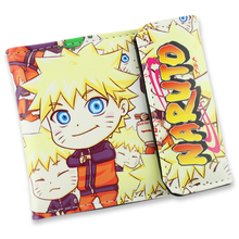 Naruto PU Wallet Fashion Men Boys Cartoon Wallets Naruto top Quality Baellerry Vintage Clutch Wallets Purse