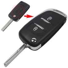 Modified Flip Remote Key Shell 2BTN FOR Peugeot 307 408 308 3008 Keyless Car Key Fob Case DKT0269 Replacement Blade CE536