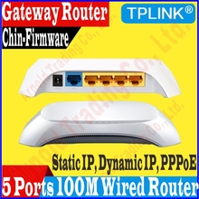5 Ports Gateway Router 10/100Mbps Wireled SOHO BROADBAND ROUTER 100M 4 Port Access Point & Router Ethernet Switch, No Color Box